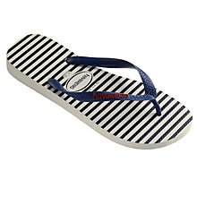 Buy Havaianas Nautical Stripe Flip Flops, Blue/White Online at johnlewis.com