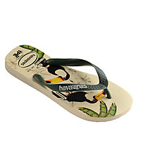Buy Havaianas Ipe Bird Print Mix Flip Flops, Green Online at johnlewis.com