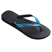 Buy Havaianas Top Mix Flip Flops, Black/Blue Online at johnlewis.com