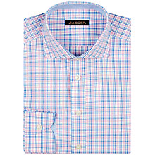 Buy Jaeger Multi Check Regular Fit Shirt, Pink Online at johnlewis.com