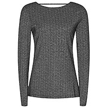 Buy Reiss Kenna Metallic Jumper, Black/Silver Online at johnlewis.com