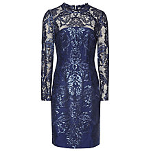 Buy Reiss Asabi Sequin Lace Dress, Midnight Online at johnlewis.com