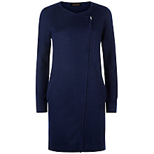 Buy Jaeger Longline Side Zip Cardigan, Navy Online at johnlewis.com