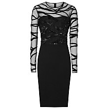 Buy Reiss Rosalin Bodycon Dress, Black Online at johnlewis.com