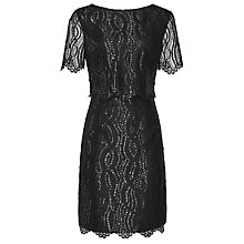 Buy Reiss Lanini Lace Dress, Metallic Online at johnlewis.com