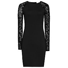 Buy Reiss Bonny Bodycon Dress, Black Online at johnlewis.com