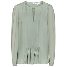Buy Reiss Inda Pleated Chain Neck Top Online at johnlewis.com