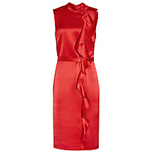 Buy Reiss Lola Ruffle Front Dress, China Red Online at johnlewis.com