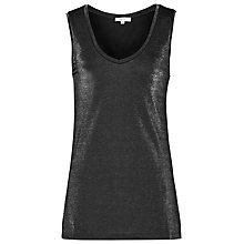Buy Reiss Fee Metallic Tank Top, Gunmetal Online at johnlewis.com