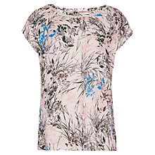 Buy Reiss India Short Sleeve Printed Top, Multi/Pink Online at johnlewis.com