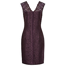 Buy Reiss Otto Bodycon Lace Dress, Garnet Online at johnlewis.com
