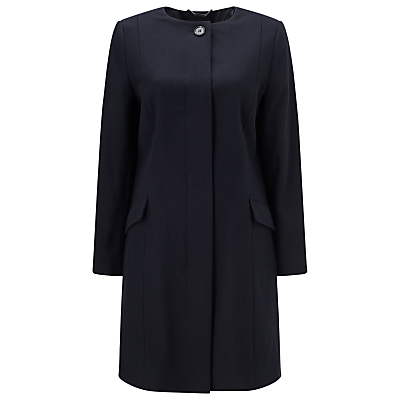 Windsmoor Collarless Coat, Navy