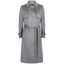 Buy Jaeger Wool Trench Coat, Grey Melange Online at johnlewis.com