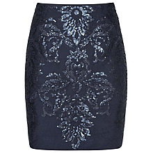Buy Reiss Georgianna Sequin Skirt, Midnight Online at johnlewis.com