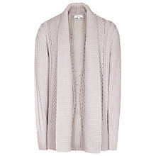 Buy Reiss Opal Cable Knit Cardigan, Soft Grey Online at johnlewis.com