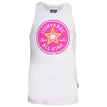 Buy Converse Girls' Printed Chuck Patch Tank Top, White Online at johnlewis.com