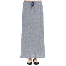 Buy Max Studio Side Slit Linen Maxi Skirt, Dark Navy Online at johnlewis.com
