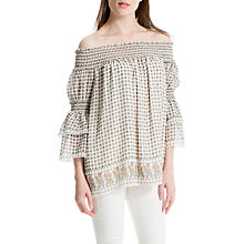 Buy Max Studio Off Shoulder Border Print Blouse, Multi Online at johnlewis.com