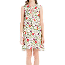 Buy Max Studio Floral Print Sleeveless Dress, Peach Spring Blooms Online at johnlewis.com