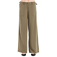 Buy Max Studio Wide Leg Trousers, Khaki Online at johnlewis.com