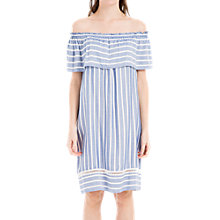 Buy Max Studio Cold Shoulder Stripe Dress, Chambray Blue/Off White Online at johnlewis.com