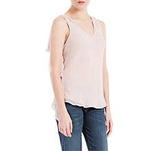 Buy Max Studio Ruffle Trim Top, Ballet Pink Online at johnlewis.com