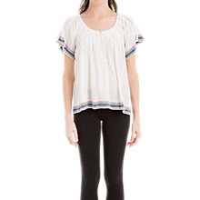 Buy Max Studio Embroidered Blouse, White Online at johnlewis.com