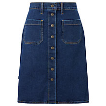 Buy Levi's Button Through Denim Skirt, Indigo Velvet Online at johnlewis.com
