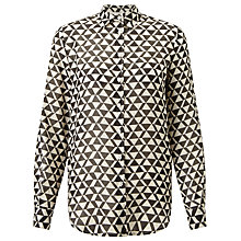 Buy Weekend MaxMara Narsete Printed Shirt, Black Online at johnlewis.com