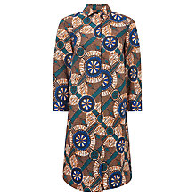 Buy Weekend MaxMara Campos Printed Shirt Dress, Orange Online at johnlewis.com