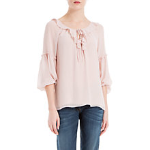 Buy Max Studio Ruffle Blouse, Ballet Pink Online at johnlewis.com