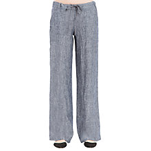 Buy Max Studio Drawstring Linen Trousers, Dark Navy Online at johnlewis.com