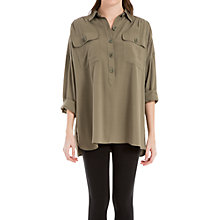 Buy Max Studio Relaxed Shirt, Olive Online at johnlewis.com