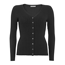 Buy Mint Velvet Cropped Ribbed Cardigan Online at johnlewis.com