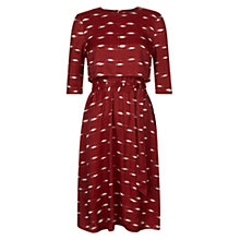 Buy Hobbs Dorothy Layer Dress, Cherry Online at johnlewis.com