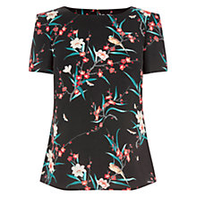 Buy Oasis Hannah Oriental Top, Multi/Black Online at johnlewis.com