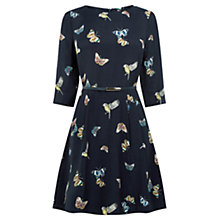 Buy Oasis Butterfly And Bird Dress, Multi/Blue Online at johnlewis.com