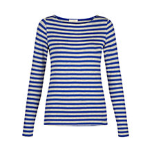 Buy Hobbs Chloe Jersey Top, Cobalt/Grey Online at johnlewis.com