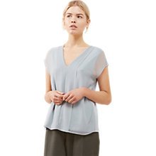 Buy Jigsaw Pleat Front Top Online at johnlewis.com