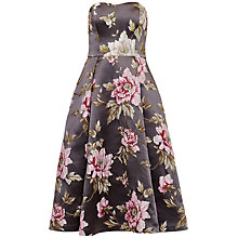 Buy Ted Baker Bernica Floral Jacquard Dress, Gunmetal Online at johnlewis.com
