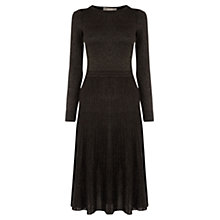 Buy Oasis Metallic Pleated Dress, Multi Online at johnlewis.com