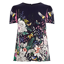 Buy Oasis Enchanted Forest T-Shirt, Blue/Multi Online at johnlewis.com