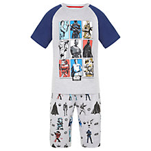Buy Star Wars Boys' Short Pyjamas, Grey Online at johnlewis.com