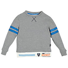 Buy Angel & Rocket Boys' Striped Sweatshirt, Blue/Multi Online at johnlewis.com