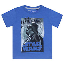 Buy Star Wars Darth Vader Short Sleeve T-Shirt, Blue Online at johnlewis.com
