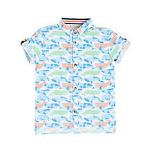Buy Angel & Rocket Boys' Whale Short Sleeve Shirt, Blue/Green Online at johnlewis.com