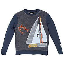 Buy Angel & Rocket Boys' AJ Boat Sweatshirt, Navy/Multi Online at johnlewis.com
