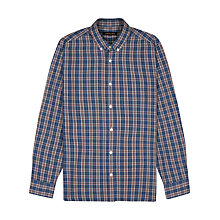Buy Jaeger Windowpane Check Long Sleeve Shirt, Winetasting Online at johnlewis.com
