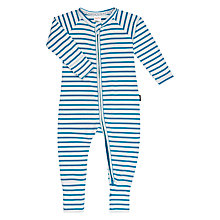 Buy Bonds Baby Striped Zip Wondersuit Sleepsuit, Teal Online at johnlewis.com
