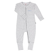 Buy Bonds Baby Striped Zip Wondersuit Sleepsuit, Grey/White Online at johnlewis.com